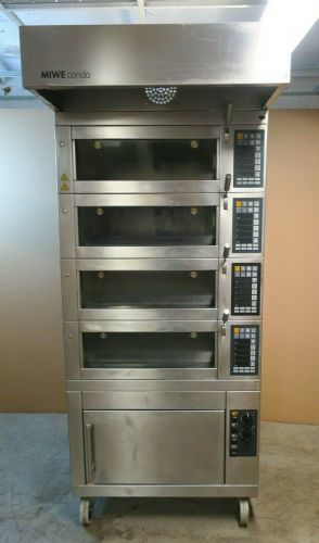MIWE Condo CO 4.0608 4 Deck Electric Steam Pizza Bread Baking Oven Proofing